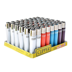 Clipper Refillable Metallic Lighter