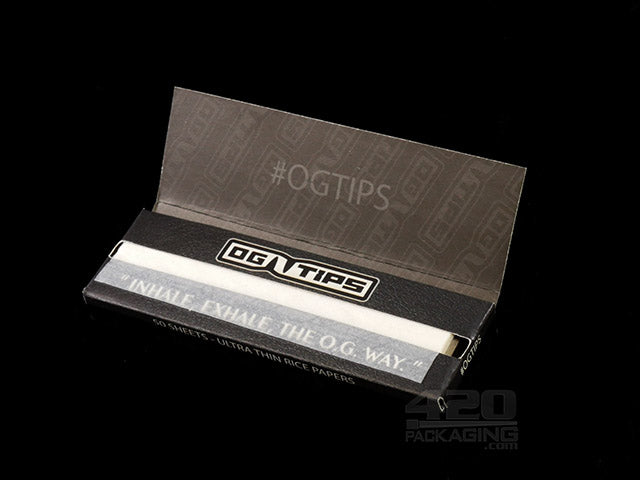 OG Tips King Size Slim Rice Rolling Papers