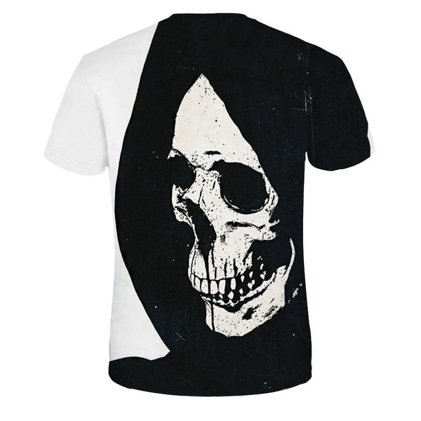 Women's Plus Size Skull 3D Print T-shirt Round Neck Short Sleeve 4740