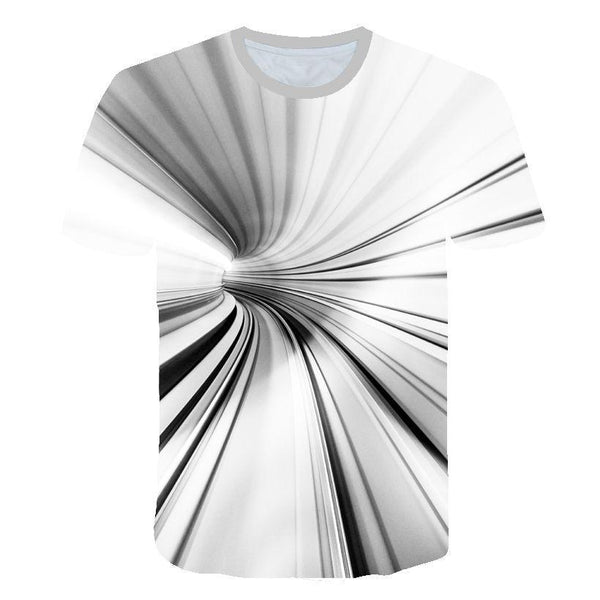 Plus Size Men's Hip Hop T-shirt - Striped / Color Block / 3D Print