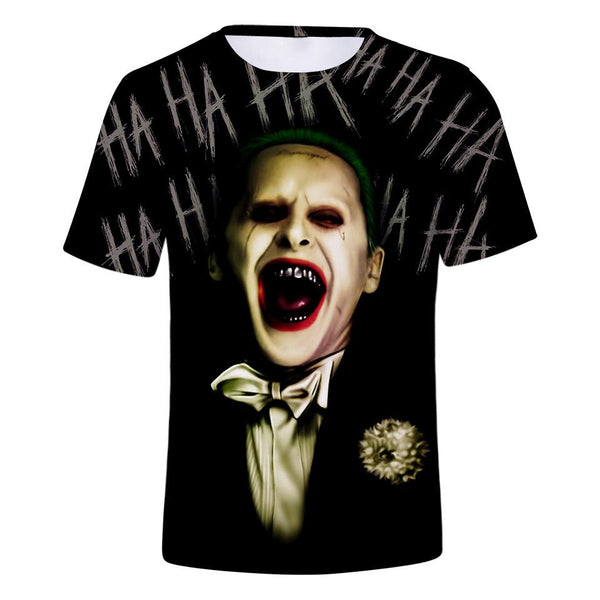 Men's Clown Polyester T-shirt - 3D Print Round Neck Clown 19