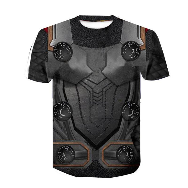 Men's Fake two-piece Film Cotton T-shirt - 3D Print Round Neck Hero