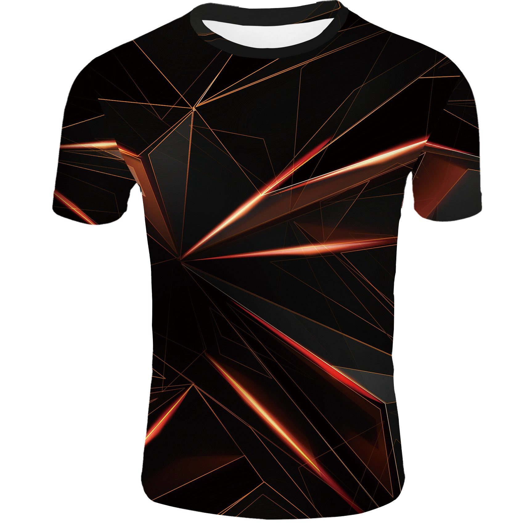 Men's 3D Polyester Printed T-Shirt Geometric TM0657