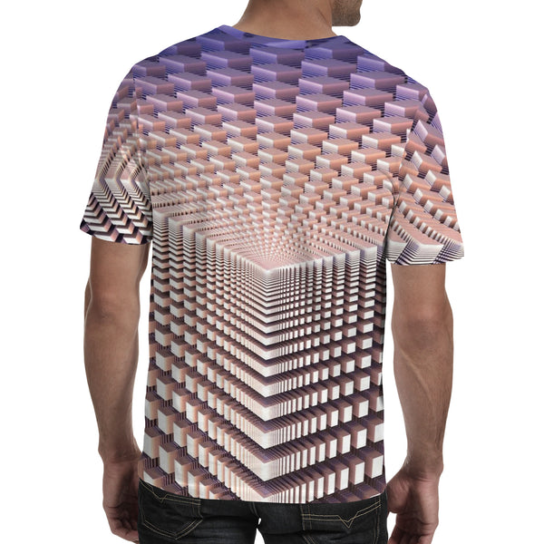 Men's 3D Polyester Printed T-Shirt Geometric TM0665