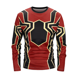 Men's Polyester 3D Print Long Sleeve T-Shirt CT3001