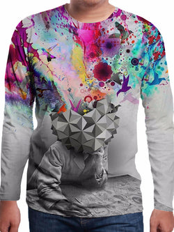 Men's Polyester 3D Print Long Sleeve T-Shirt FCCX014