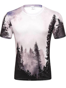 Men's Mesh Fabric 3D T-shirt Breathable Quick-drying D79