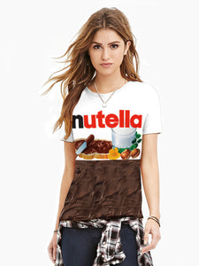 Women's Plus Size Chocolate 3D Print T-shirt Round Neck Short Sleeve