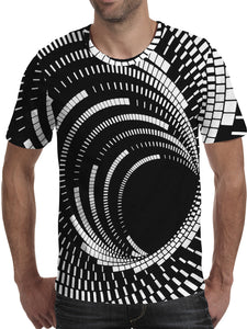 Men's 3D Polyester Printed T-Shirt Geometric TM0654