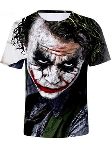 Men's Clown Polyester T-shirt - 3D Print Round Neck Clown 13