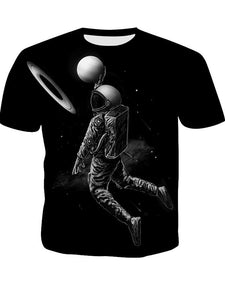 Men's Summer 3D Digital Print Short Sleeve Round Neck Men's T-Shirt Pilot