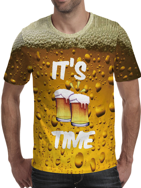 Men's It's Beer Time 3D T-Shirt