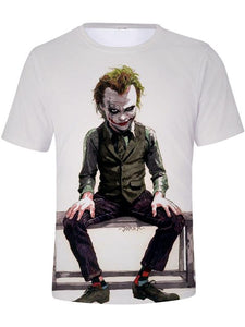 Men's Clown Polyester T-shirt - 3D Print Round Neck Clown 24