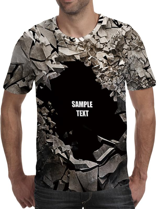 Men's 3D Print Creative Wall Element T-Shirt Short Sleeve Breathable Quick drying TM0204