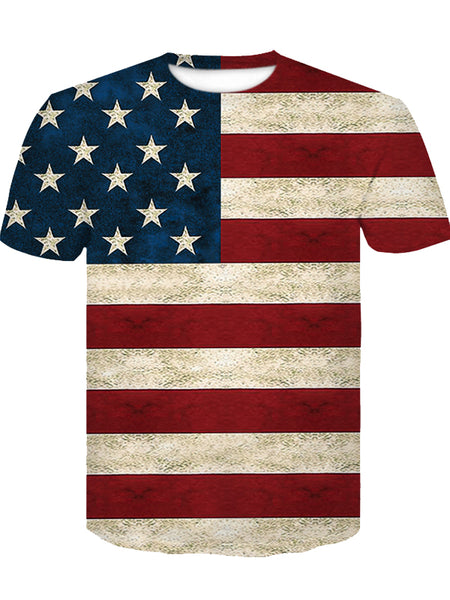 Men's Summer 3D Flag Print T-Shirt D-247(10% OFF CODE:independent)