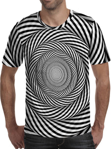 Men's 3D Polyester Printed T-Shirt Geometric TM0666