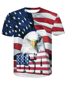 Men's Summer 3D Flag Print T-Shirt D-536(10% OFF CODE:independent)