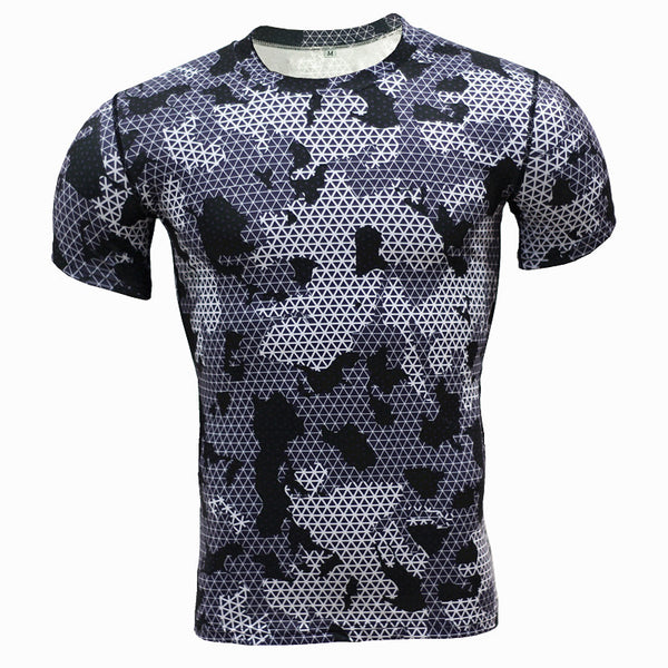 Men's Sports Fitness Short Sleeve T-Shirt 3D Print Superhero Quick Dry Breathable Dot