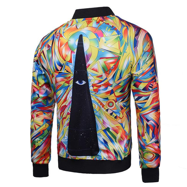 Men's Outerwear 3D Printed Jackets J003# - kiyomall