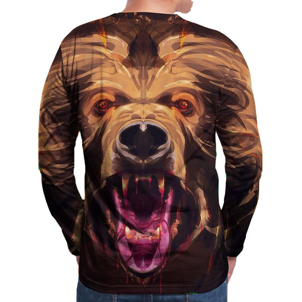 Men's Polyester 3D Print Long Sleeve T-Shirt FCCX034
