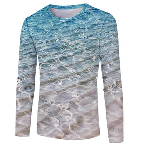 Men's Polyester 3D Print Long Sleeve T-Shirt FCCX058