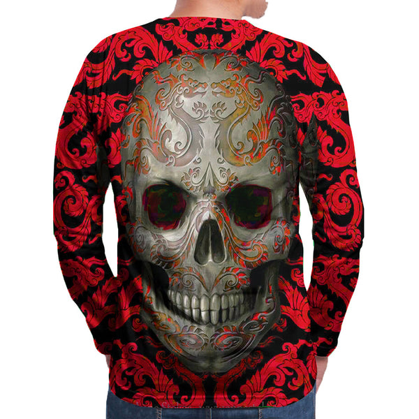 Men's Polyester 3D Print Long Sleeve T-Shirt FCCX077