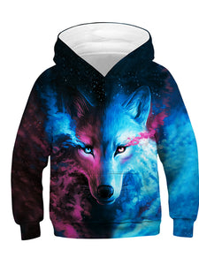 Kids' 3D Wolf Hoodies TZ 029 042