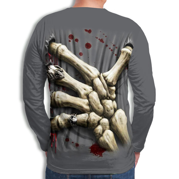 Men's 3D Print Long Sleeve T-Shirt ZD004