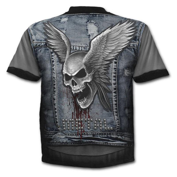 Men's Digital Fake Two-piece T-shirt - 3D Print Round Neck