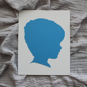 Blue and White Silhouettes by Anna Ferguson