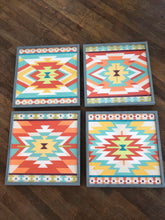 Load image into Gallery viewer, Set of 4 Mesa Motif Framed Wall Art
