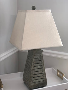 Shutter Tower Table Lamp in Gray Wash Finish