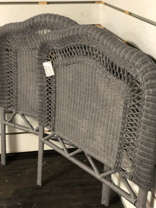 Grey Wicker Headboards Size Twin