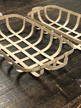 Load image into Gallery viewer, Antique White Chippy Iron Tobacco Baskets