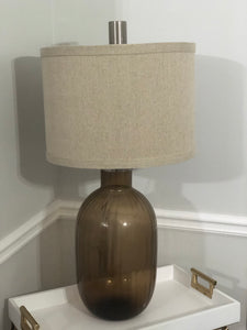 Oliver Table Lamp in Toasted Glass Finish