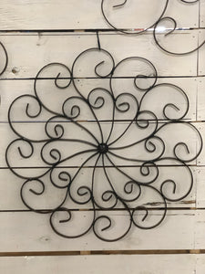 Iron Spiral Wall Decor
