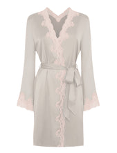 Load image into Gallery viewer, MYLA Heritage Silk Short Robe - Marble/Granite Pink - XS - S - M - L - XL