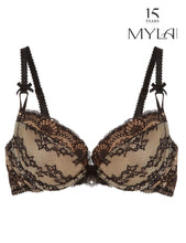 Load image into Gallery viewer, MYLA Nicole Padded Plunge Bra - Black/Nude