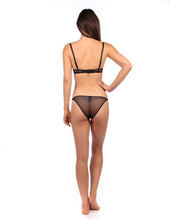 "Load image into Gallery viewer, MYLA Elliptical ""Open"" Knicker - Black"