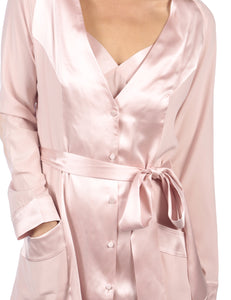 MYLA Patchwork Short Robe - Granite Pink