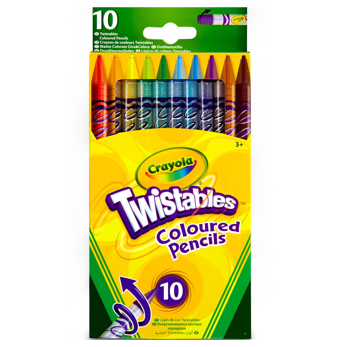 Crayola Twistables Coloring Pencils 50 Pack New /& Sealed FREE POST