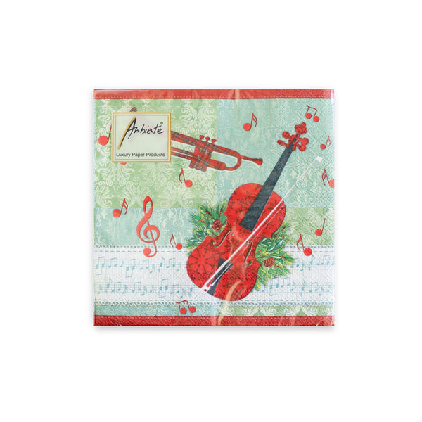 Holiday Cello and Trumpet Beverage Napkins