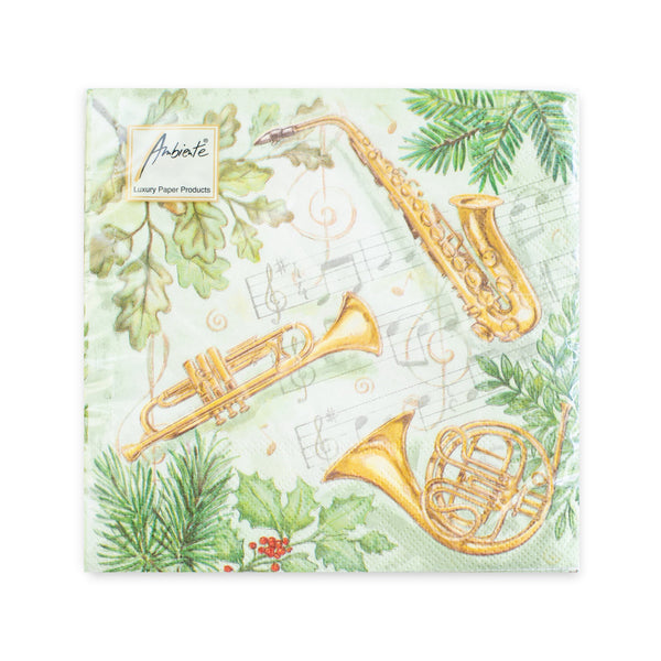 Holiday Brass Luncheon Napkins