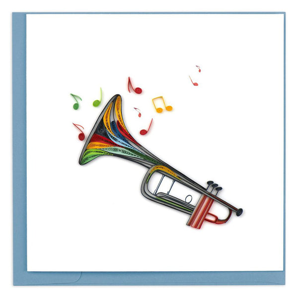 Quilled Trumpet Greeting Card