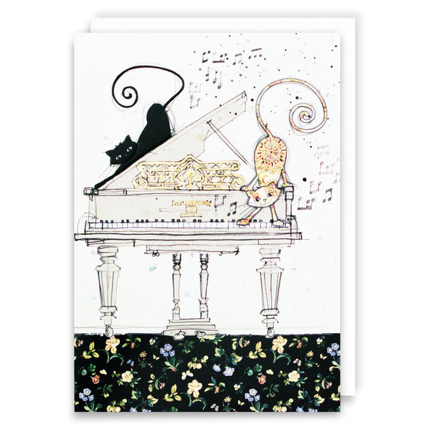 Cats on Piano