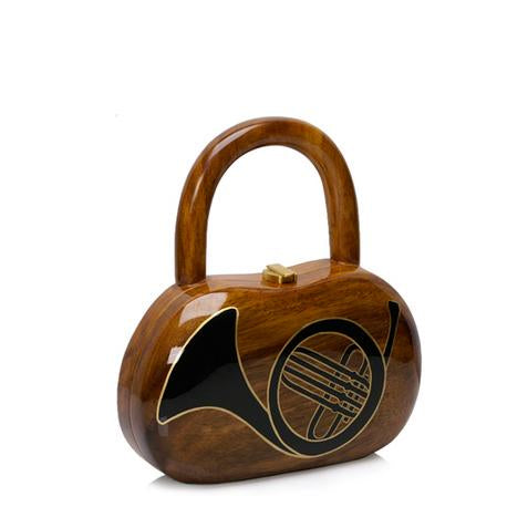 French Horn Wooden Handbag