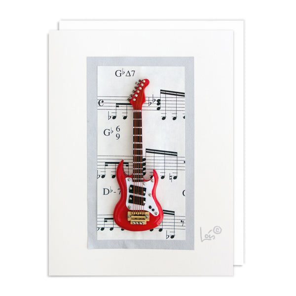 Electric Guitar Art Card