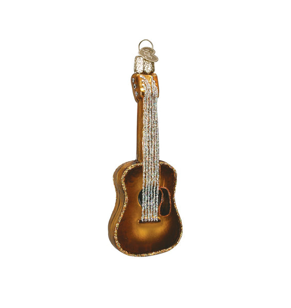 Acoustic Guitar Blown Glass Ornament