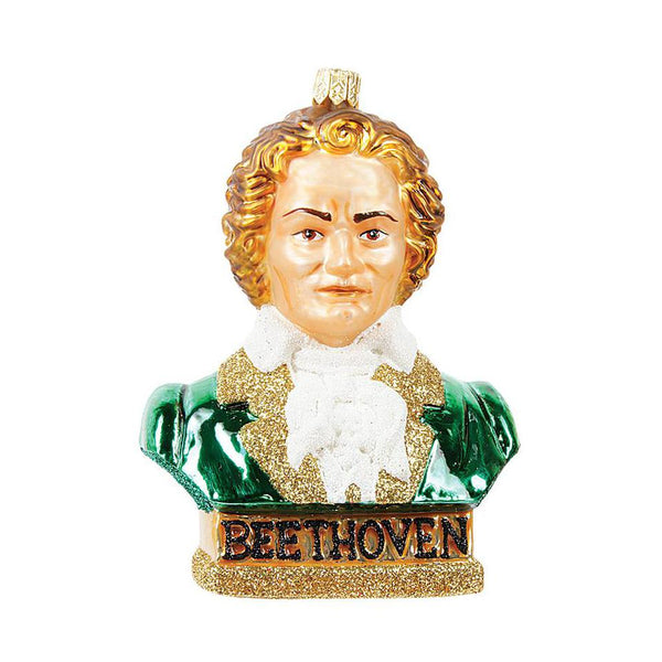 Beethoven Blown Glass Ornament