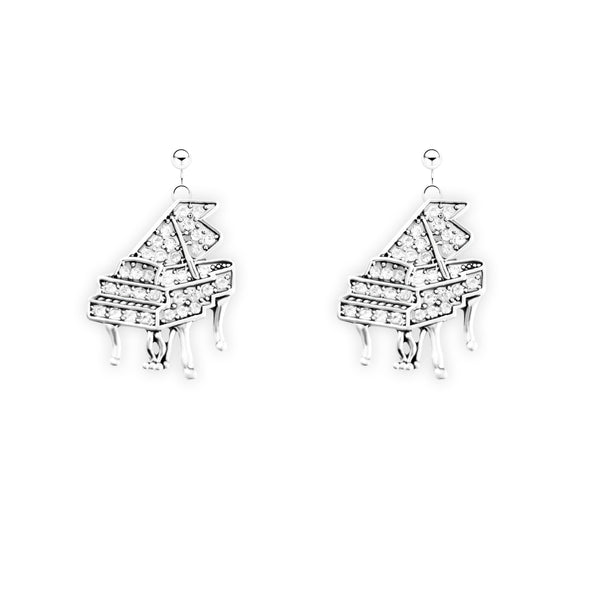 Crystal Grand Piano Earrings